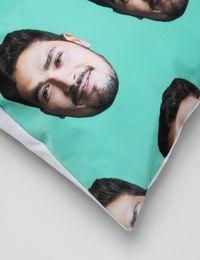 face pillowcase detail shot