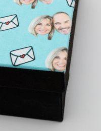 Fotobox mit Gesicht Deckel Detail