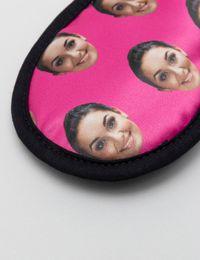 Gesichter-Schlafmaske Detail