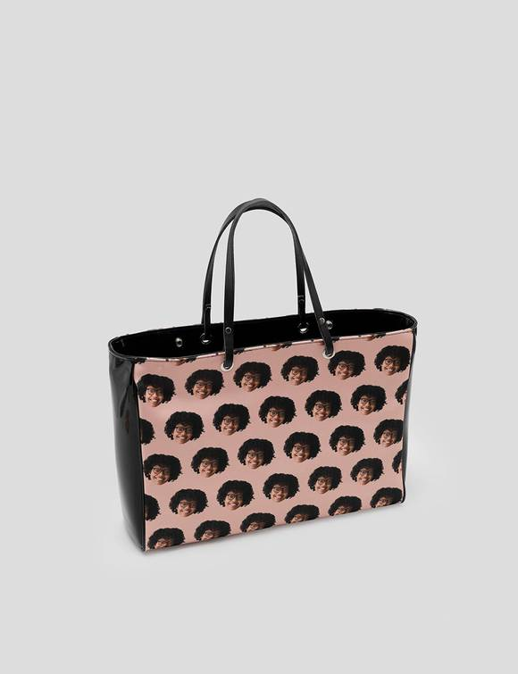 Handbag with face
