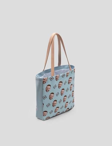 shopper-tasche mit gesicht