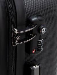 Koffer mit Gesicht Zahlenschloss Detail