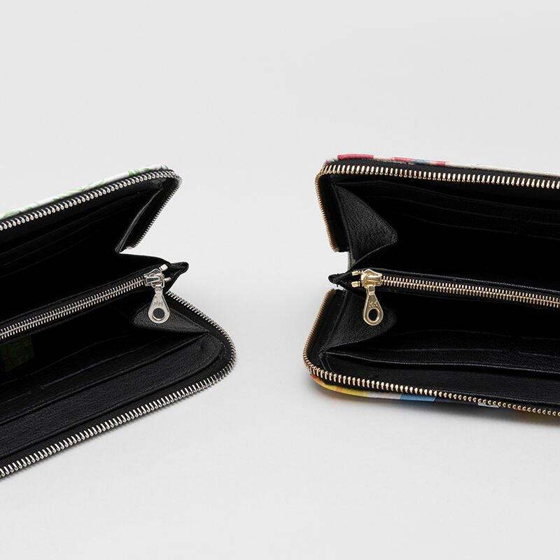 custom leather zip purse