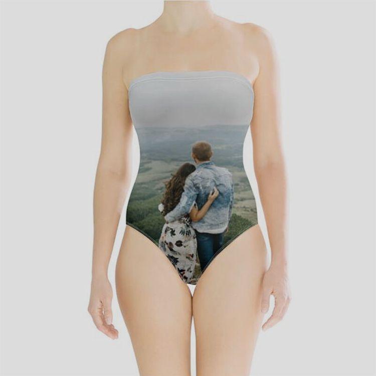 bañador sin tirantes personalizado imagenes o fotos