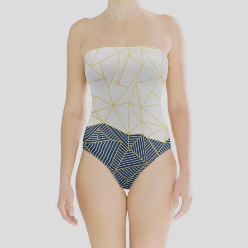 ladies swimsuit strapless