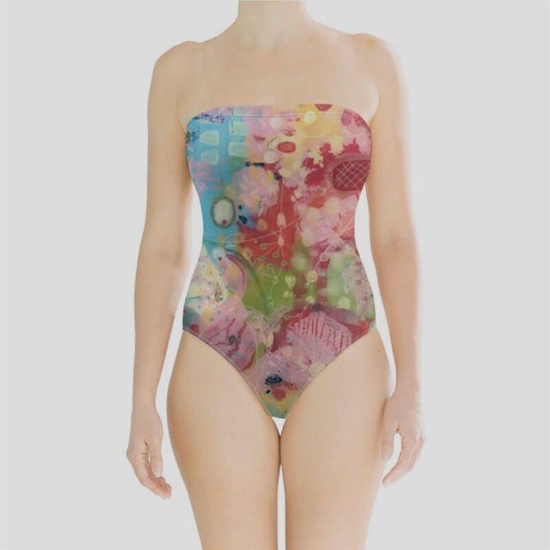 Impression digitale sur maillot de bain bustier