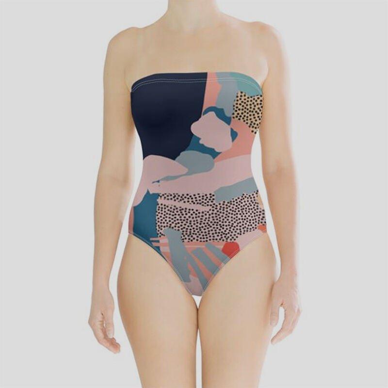 Personalisierter Badeanzug ohne Träger