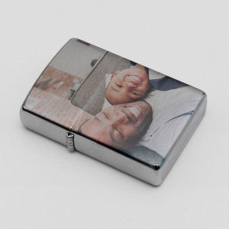 flick open metal lighter print your photo