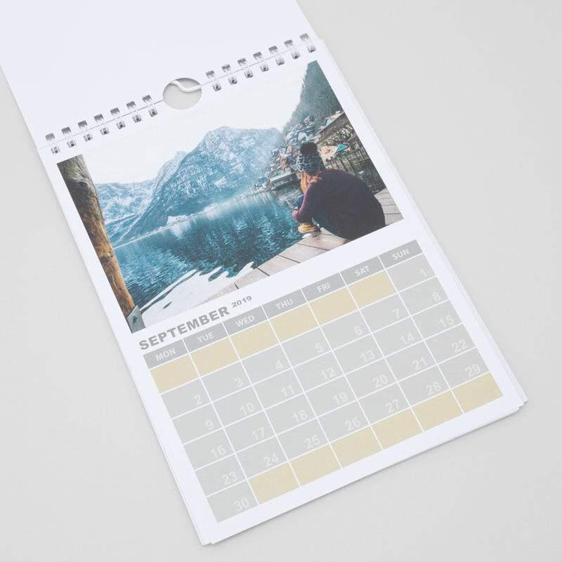 jahreskalender a5 selber gestalten a5 fotokalender 2020. Black Bedroom Furniture Sets. Home Design Ideas