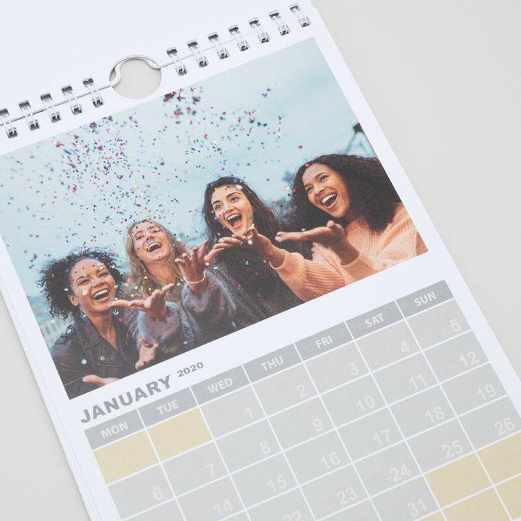 gepersonaliseerde A5 fotokalender