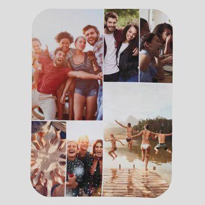 Plaid Leggero con Collage di Foto