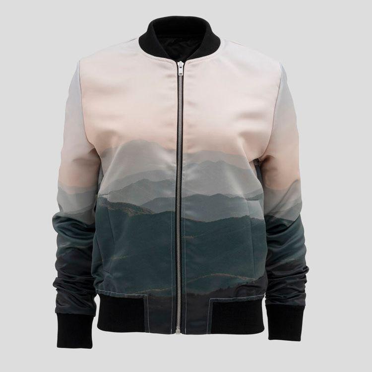 printed bomber jacket womens