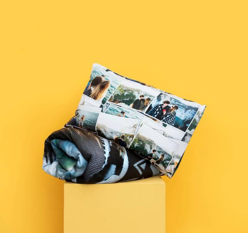 personalised photo bedding