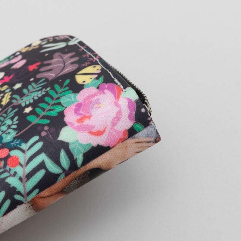 custom printed mini purse with zip