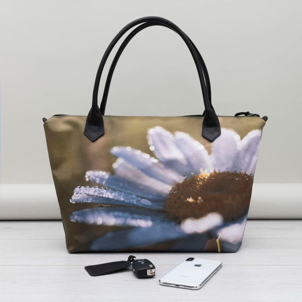 photo handbags with zip