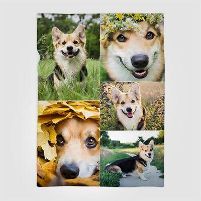 Coperta con collage personalizzata