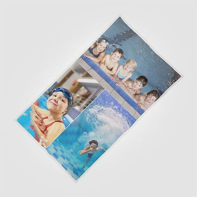serviette de plage personnalisée collage
