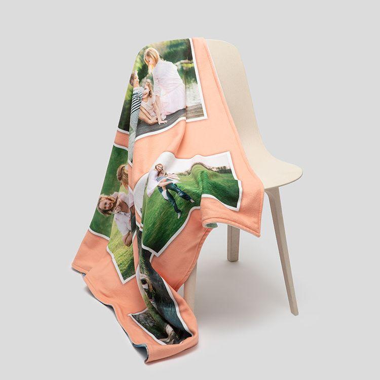 custom collage blanket