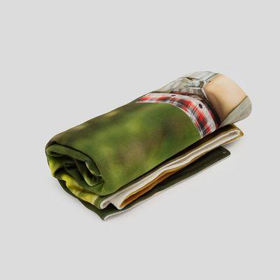 personalised yoga fleece blanket