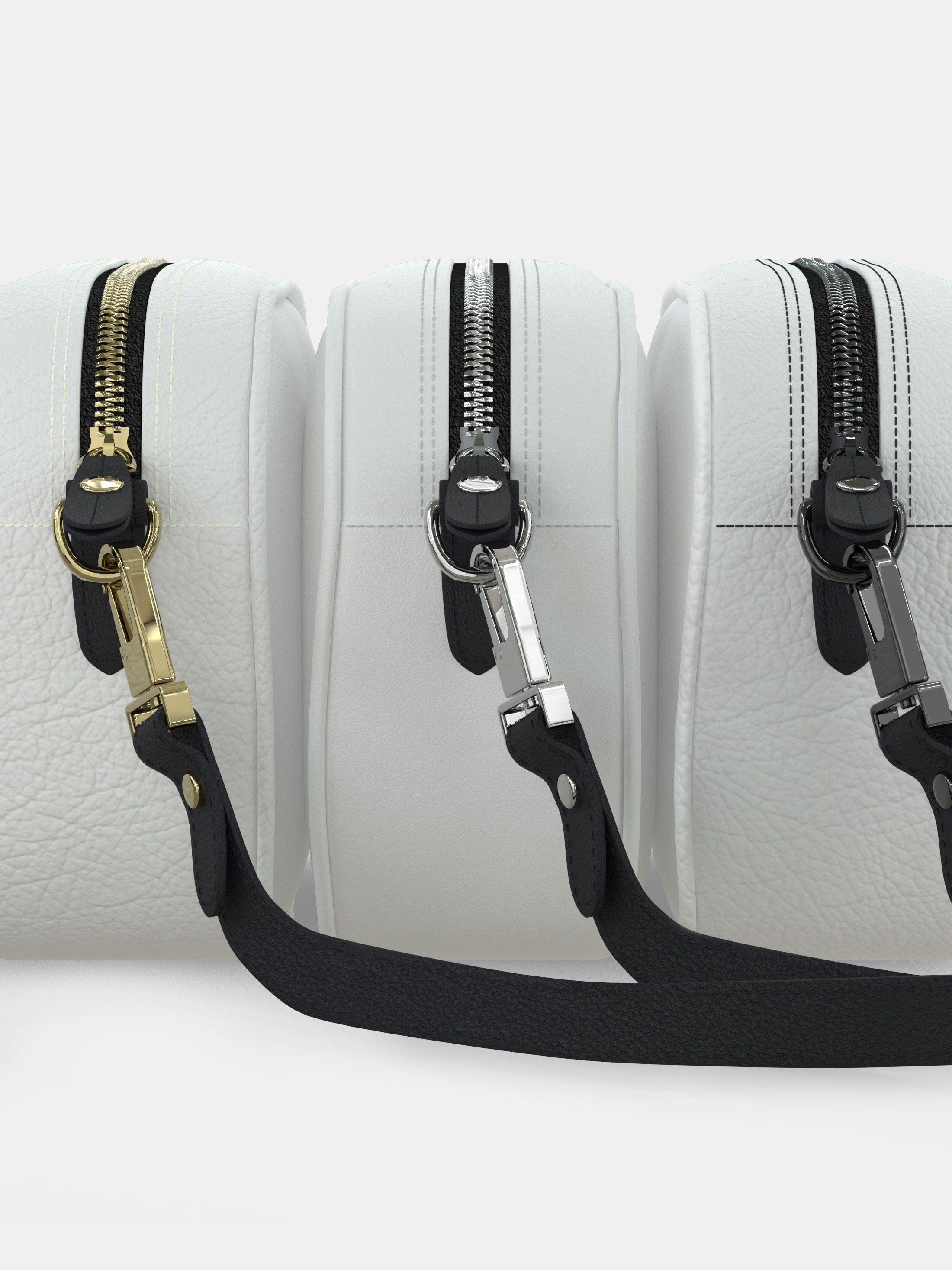 bolso compacto personalizado tira cuero