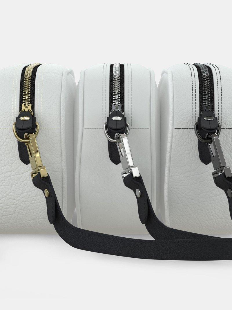 camera bag removable clip strap detail