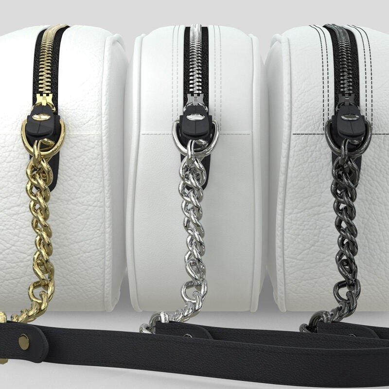 bolso compacto personalizado cadena metal