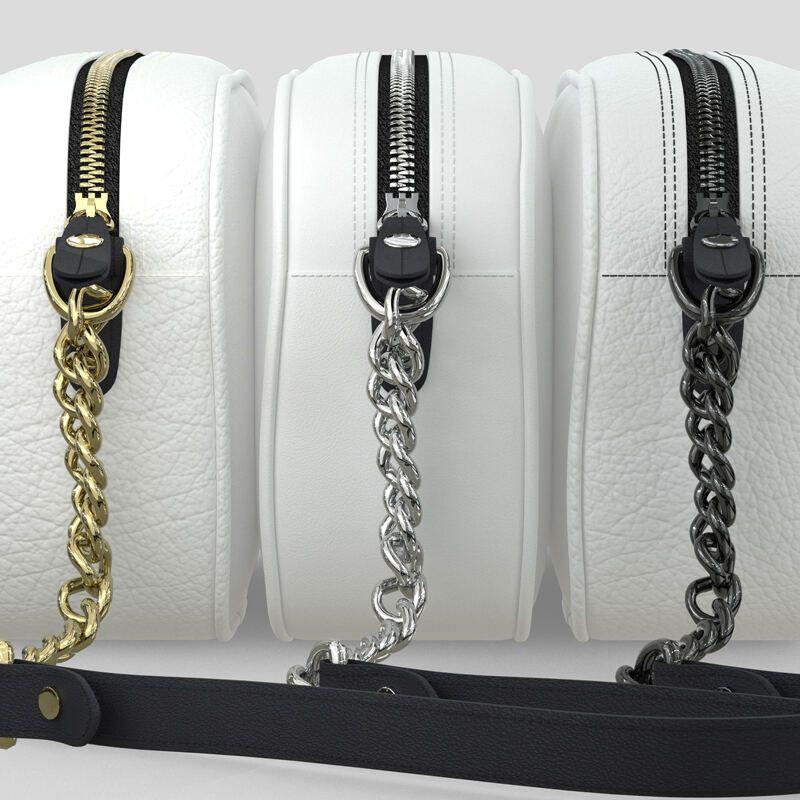 Schultertasche Metall Details befestigter Schultergurt