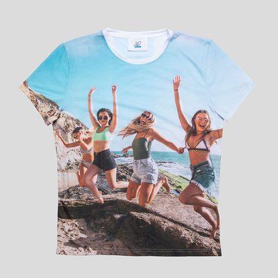 T Shirt mit All Over Druck