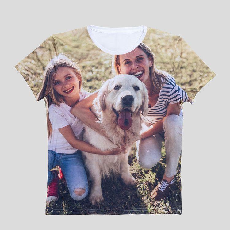 カスタム全面プリントTシャツ 写真