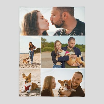 coperta personalizzata con foto collage