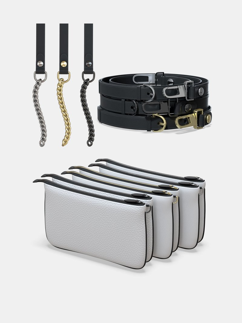 Product Options Double Zip Pochette Bag