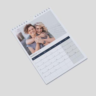 壁掛けカレンダー A5サイズ プリント