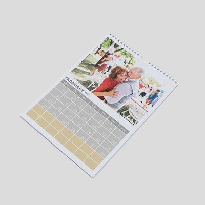 Personalised photo calendar