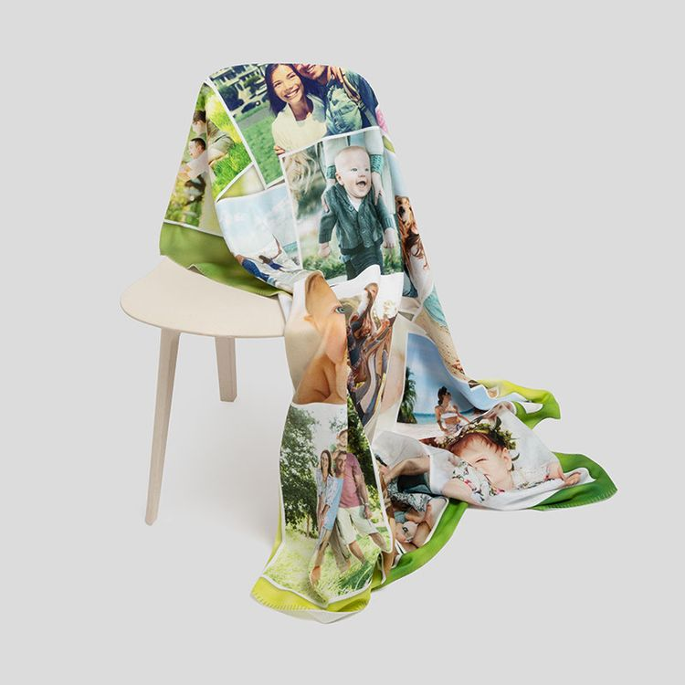 personalized plush fleece blankets