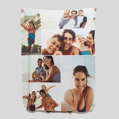 Leichte Decke mit Collage