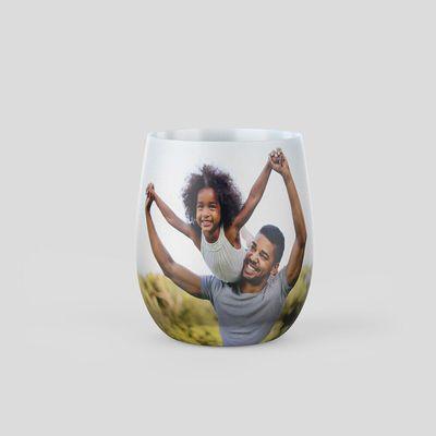 vaso de cristal personalizado foto