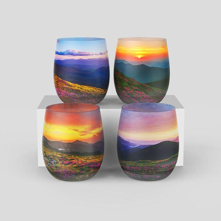 vaso cristal personalizado