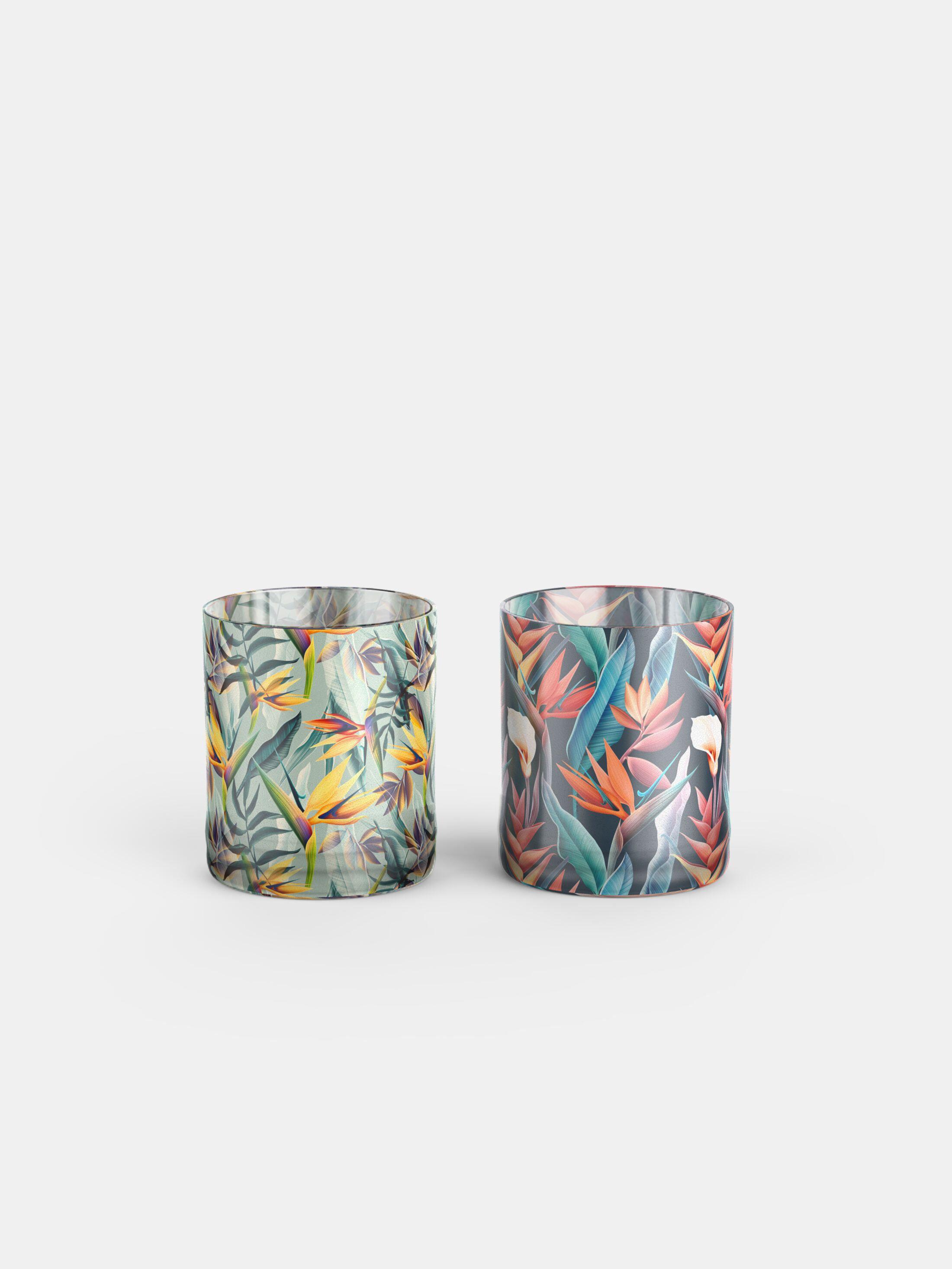 custom whisky glasses multicolor