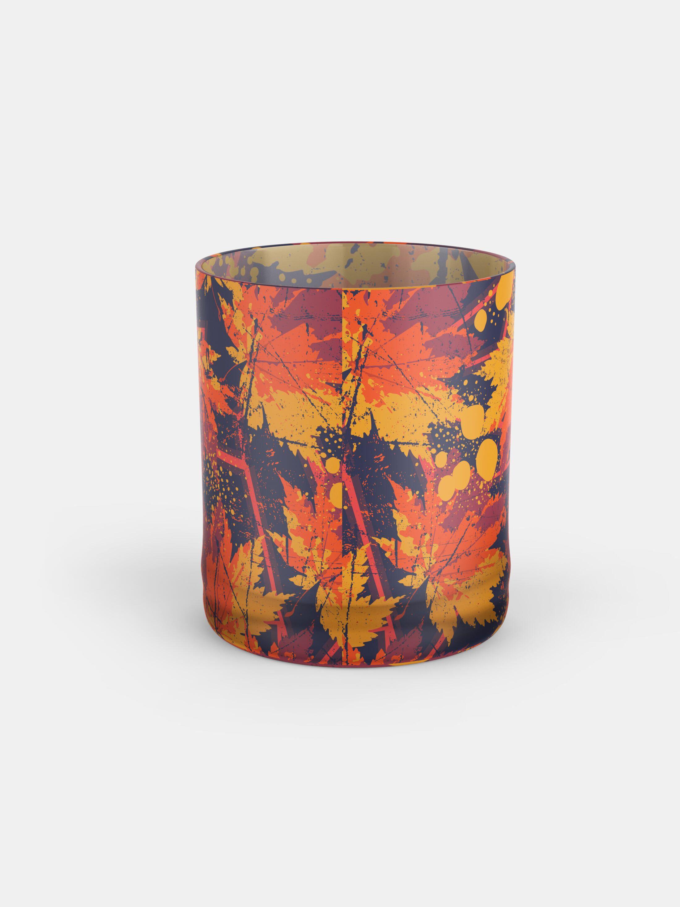 gepersonaliseerd whiskyglas met bloemenprint