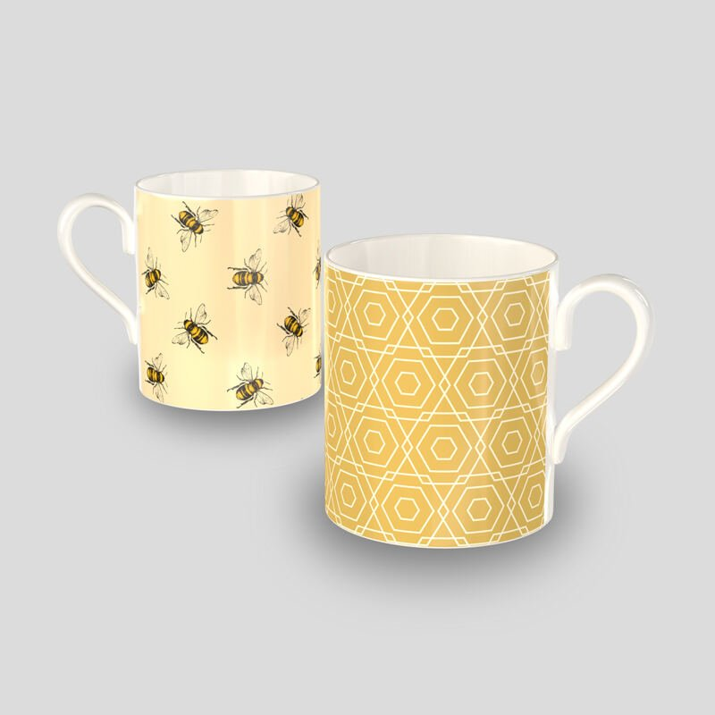Regular custom printed bone china mug