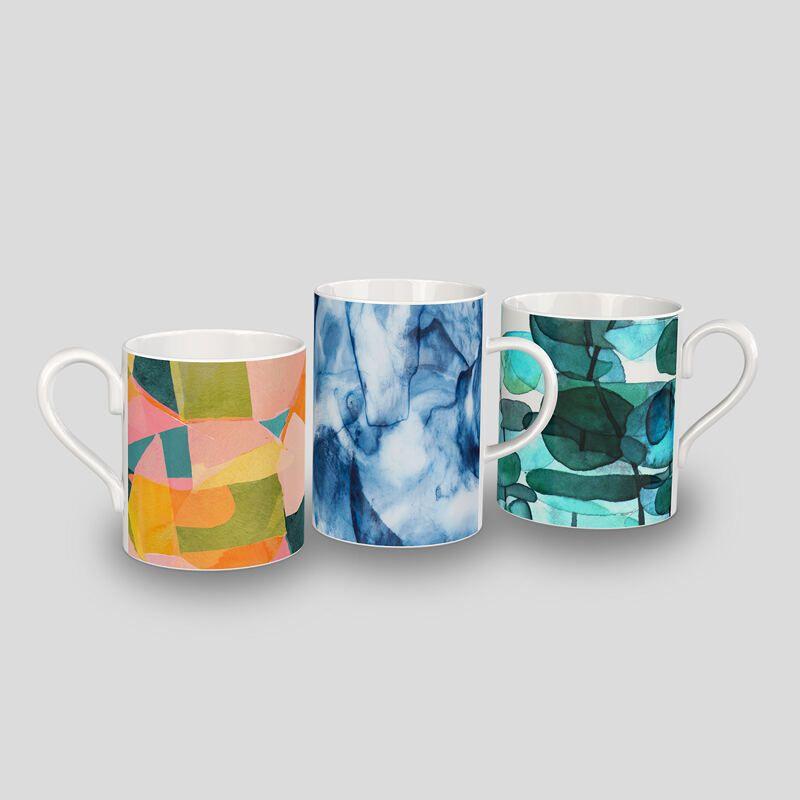 large bone china mug logo print