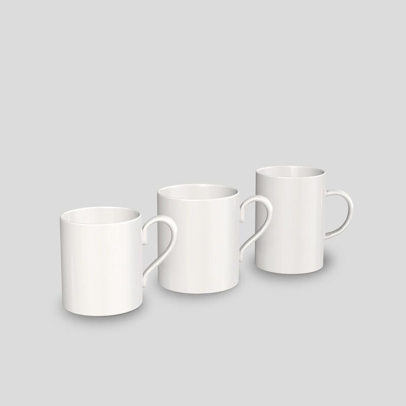 Porzellantassen ohne Druck Größen