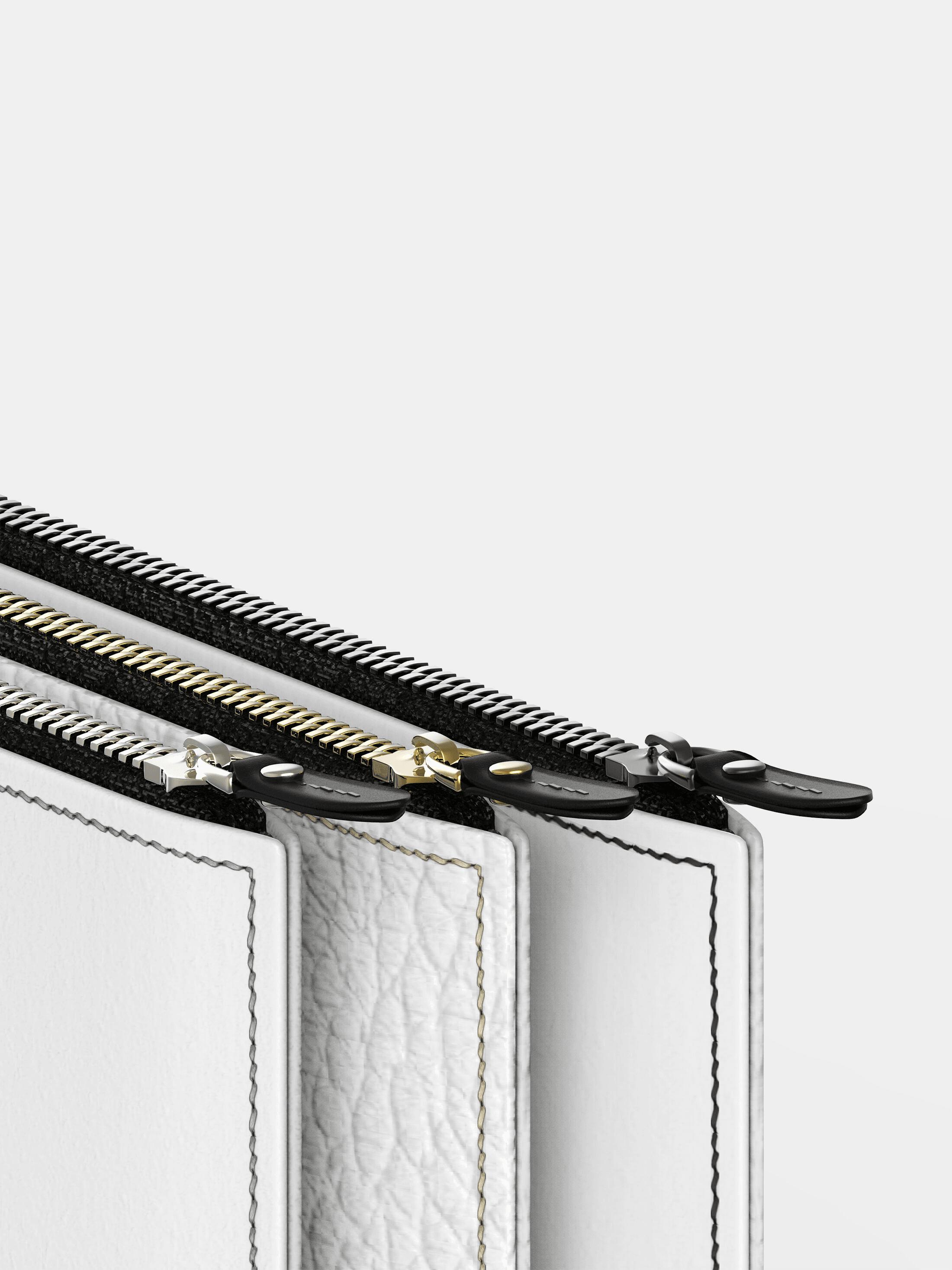 designa din egen läderväska blixtlås