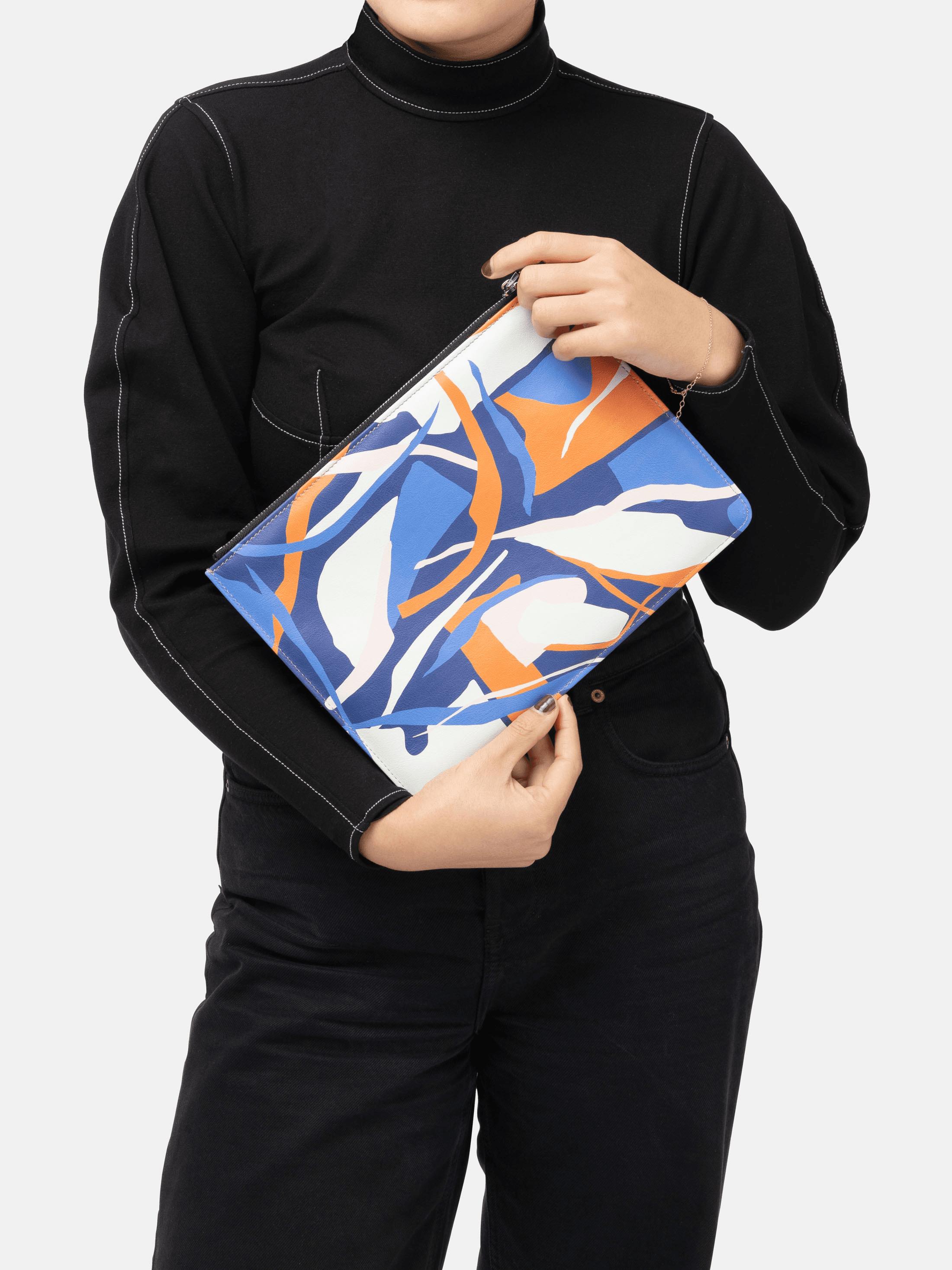 gepersonaliseerde leren pouch tassen