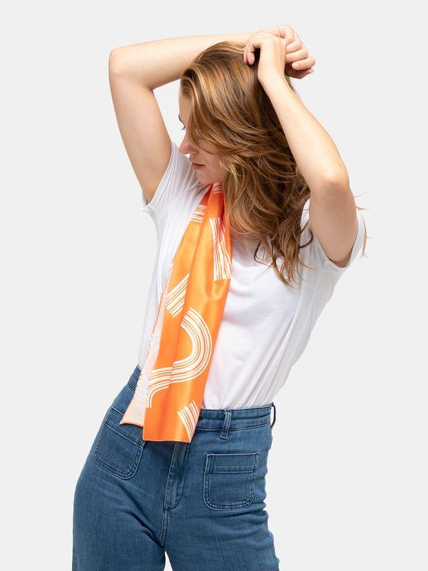 Orange scarf photo