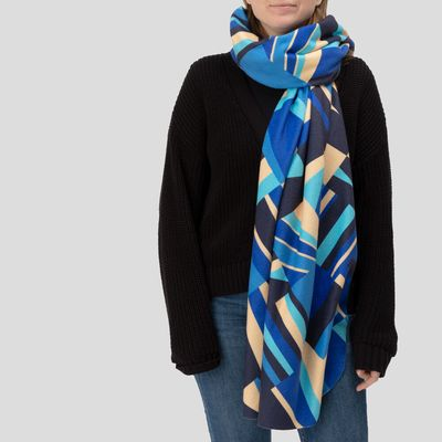 Custom blanket scarf