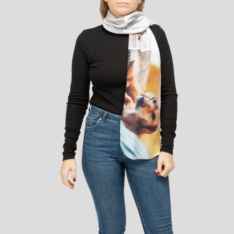 printed fleece scarf