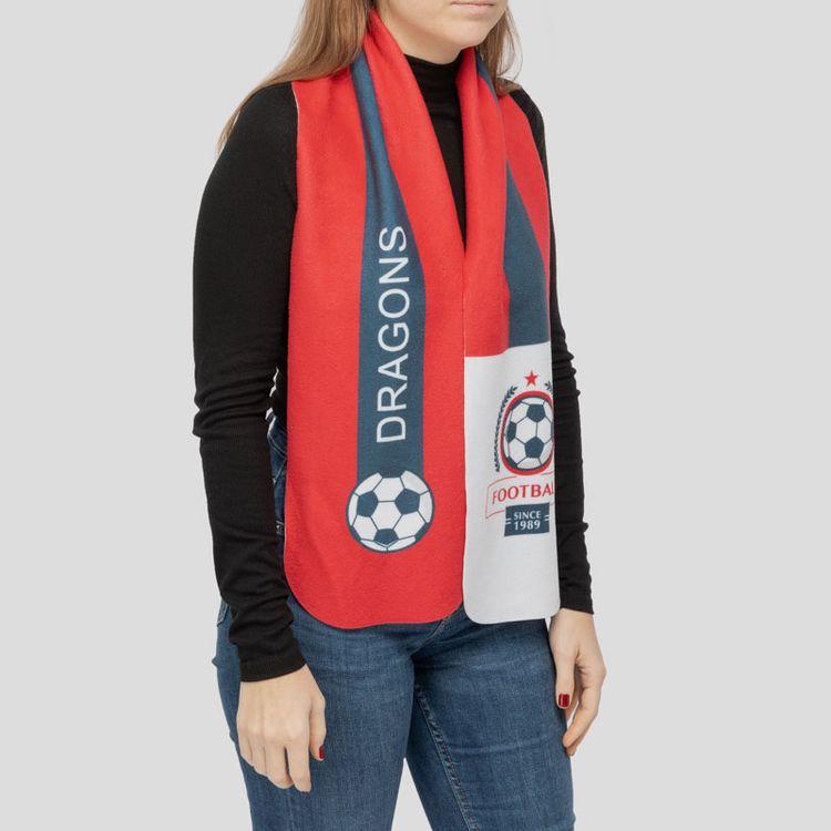 サッカー スポーツスカーフ フリース生地 カスタムプリント