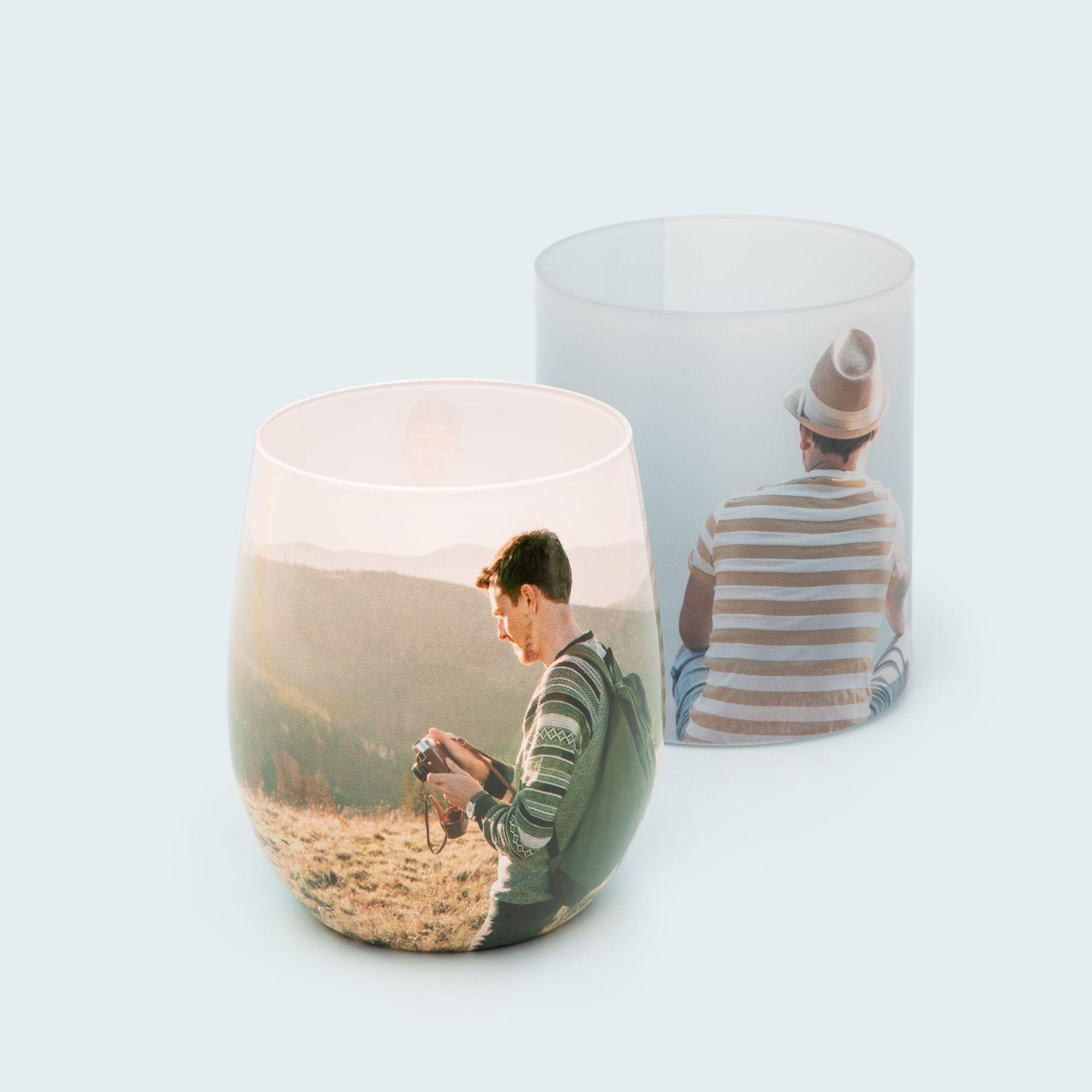vasos cristal personalizados diseno