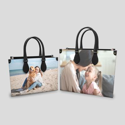 Personalisierte Shopping Tasche aus echtem Leder